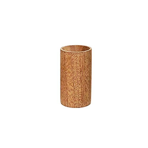 Yeejok Essential Oils Diffusers, Natural Wooden Cylinder Aromatherapy Tool, Portable Mini Air Fresher with Gift Bag for Car/Bedroom/Beauty Salon/Meditation - - Sapele Natural