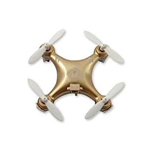 "Cheerson CX-10A 1.6"" Mini 2.4G 4CH 6 Axis Gyro Headless Mode 3D Flip LED Light RC Quadcopter Ready to Fly Toys RTF Drone (with Left Throttle Transmitter) – Gold Best Gift for Valentine Birthday Christmas Thanksgiving 3170IiYemjL"
