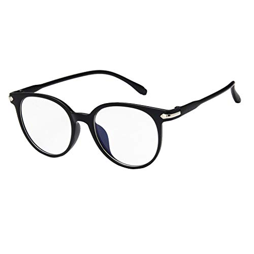 Feitengtd Spectacle Optical Frame Glasses Clear Lens Computer Anti-Radiation Eyeglasses (Bright ()