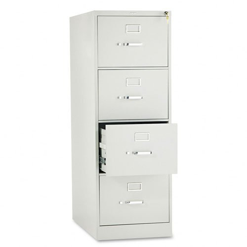 High Security Filing Cabinets (HON 4-Drawer Filing Cabinet - 310 Series Full-Suspension Legal File Cabinet, 26-1/2-Inch Drawers, Light Gray (314CPQ) )