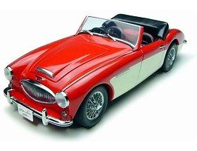 Autoart 1/18 Scale - 70721 Austin Healey 3000 MK2 1961 Red White R/H Drive B0007LYDZK