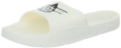 Fashy Yacht Club 7227 10, Unisex - Erwachsene Bade Sandalen Weiss (Weiß 10)