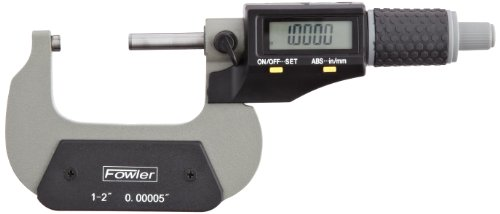 - Fowler 54-870-002 Xtra-Value II Electronic Micrometer with Grey Enamel Finish, 1-2