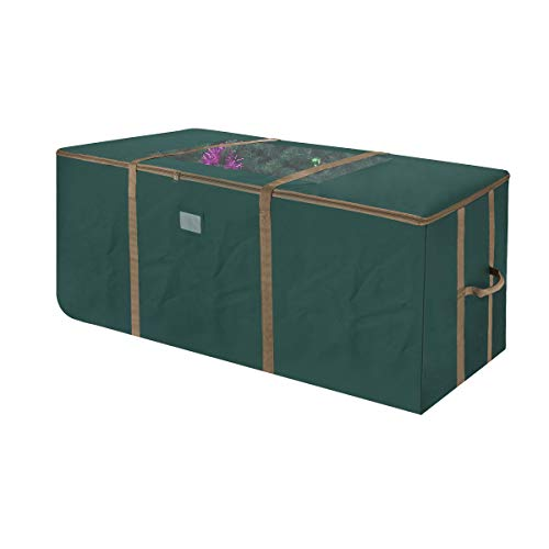 Elf Stor 83-DT5171 Rolling Duffel Style Christmas Storage Bag with Window for 12 Foot Tree | Green