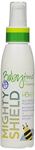 Baby Bug Spray - Babytime by Episencial Mighty Shield Bug Repellent DEET-Free Lotion, 3.4 Ounce