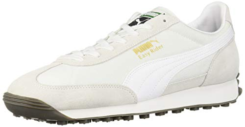 (PUMA Men's Easy Rider Sneaker White-Gum, 8.5 M US)