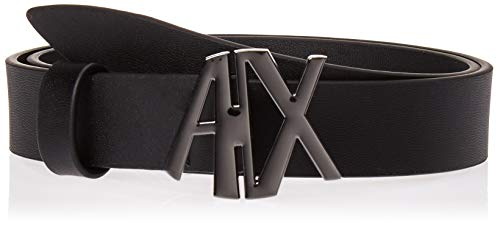 (A|X Armani Exchange Women's Logo Belt, black, XXS)