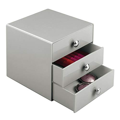 iDesign Plastic 3-Drawer Jewelry