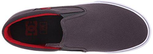 DC Trase Slip-On TX Unisex Shoe, Grey/Black/Red, 11.5 M US Grey/black/red