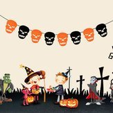Rip Ensign - Halloween Fabric Pumpkin Skull Bat Spider Hanging Party Decoration Ornament Diy Pull Flag - Puff Slack Fetch Ease Rend Sag Tear Swag Drag Iris Wrench Slacken Drive - 1PCs