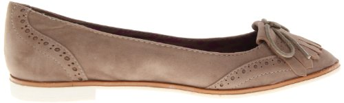 Dollhouse Mujeres Preppy Ballet Flat Taupe