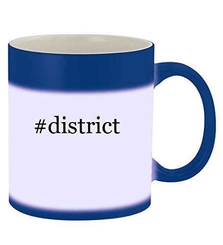 #district - 11oz Hashtag Magic Color Changing Mug, Blue