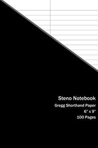 Steno Notebook: Gregg Shorthand Paper