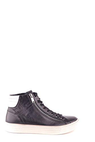 Hogan Herren MCBI148355O Schwarz Leder Hi Top Sneakers