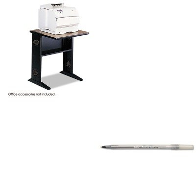 KITBICGSM11BKSAF1934 - Value Kit - Safco Fax/Printer Stand w/Reversible Top (SAF1934) and BIC Round Stic Ballpoint Stick Pen (BICGSM11BK) -