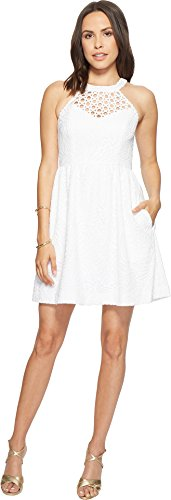 Lilly Pulitzer Women's Kinley Dress Resort White Tropical Fruit Lace 2