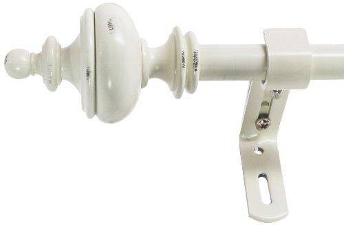 (Montevilla 5/8-Inch Urn Window Treatment Rod Set, 48 to 86-Inch, Distressed)