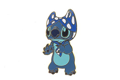 Disney Lilo & Stitch Characters - Stitch with a Bikini Top on His Head Pin