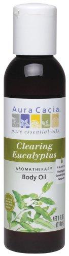 - Aura Cacia Body Oil, Clearing Eucalyptus, 4 Fluid Ounce
