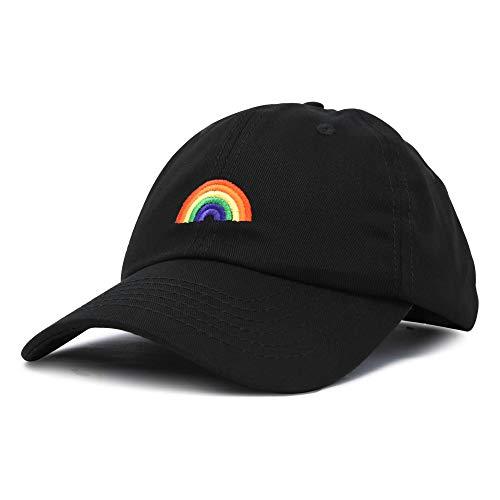 DALIX Rainbow Baseball Cap Womens Hats Cute Hat Soft Cotton Caps in Black ()