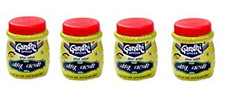 Lemon Sauce (Nimbu Chutney) , Pack of 4 - Each 100 gm (3.52 OZ) By Gandhi