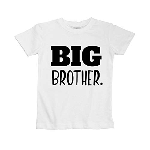 (Big Brother Shirt for Toddler Promoted to Best Big Brother Announcement Baby Boys (White, 3y))