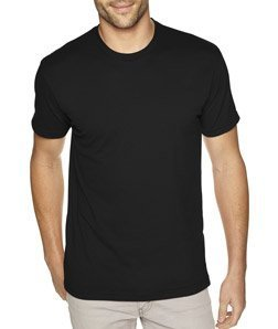 Next Level Apparel 6410 Mens Premium Fitted Sueded Crew Tee - Black44; Large from Next Level Apparel