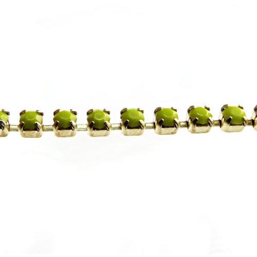 モードビーズss8 RawラインストーンCupチェーン、1 M、Peaグリーン   B00IUGRAAY