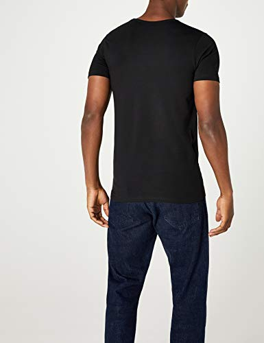Jones Da S Jack V Basic amp; s Black shirt T Uomo Neck qCT51