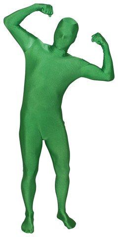 Green Body Suit Costume (Full Body Spandex Body Suit Costume (Child, Green))