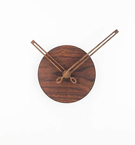 (Reliable-E Wood Like Clock Face Power Movement DIY Wall Clock Kit for Home Decor (Wood-Hand-B))