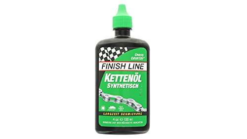 Finish Line WET Bicycle Chain Lube, 4-Ounce Drip Squeeze (Bike Lube)