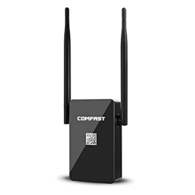 Wifi Repeater, Jelly Comb COMFAST Wifi Range Extender 750Mbps Wireless Repeater + Access Point + Router with Dual Band Antennas for 360 Degree WiFi Full Coverage