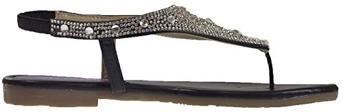 Lora Dora Womens Diamante Sandals Black Sc20oFwBSq