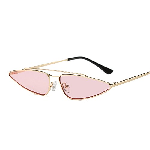 Small Triangle Metal Frame Sunglasses Women Men Brand Designer Cool Cat - Face Sunglasses Triangle