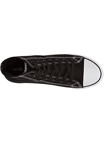 Ultra Alte In Oodji Sneakers Tela Di 2910b Nero Cotone Donna dqBOxZ