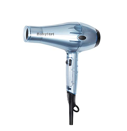 Babyltrl 1875 Watt Hair Dryer Fast Drying, AC Motor with 2 Concentrator Nozzle Attachments, Blue