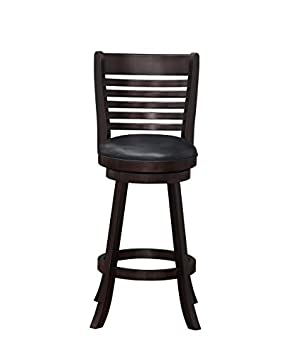 Distressed White Boraam Florence Bar Height Swivel Stool 29-Inch
