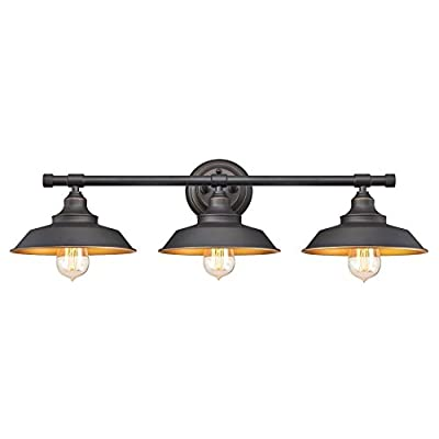 Westinghouse Lighting Iron Hill Three-Light Indoor Wall Fixture Oil Rubbed Bronze Finish