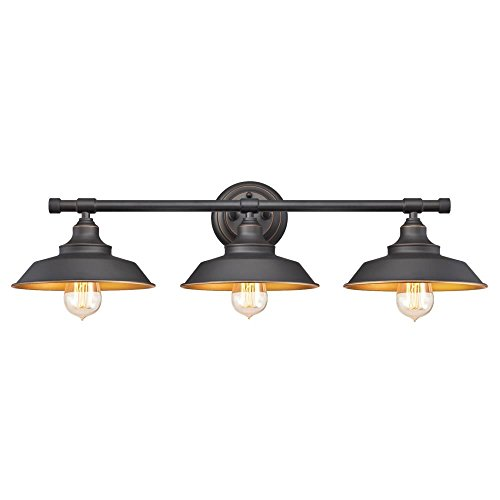 Westinghouse Lighting 6344900 Iron Hill Three-Light Indoor Wall Fixture Oil Rubbed Bronze Finish
