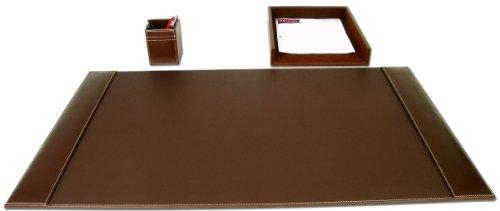 Dacasso Rustic Brown Leather Desk Set, 3-Piece