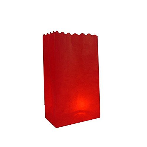 Quasimoon PaperLanternStore.com Red Paper Luminaries/Luminary Lantern Bags Path Lighting (10 Pack) for $<!--$10.41-->