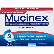Mucinex 12 Hour Maximum Strength Chest Congestion Expectorant Tablets, 42ct, 1200mg Guaifenesin with Extended Relief (2 -