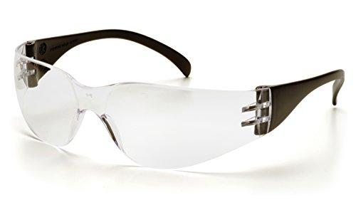 Pyramex Intruder Safety Eyewear, Black Frame, Clear-Hardcoated (Intruder Sunglasses)