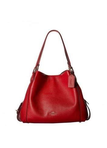 COACH Women's Pebbled Leather Edie 31 Shoulder Bag Li/Jasper One Size