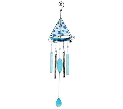 Premium Beach Collection Wind Chime, Sailboat