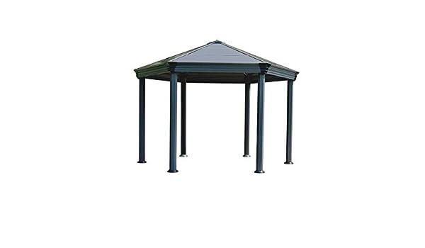 Palram Roma Cenador de jardín, Gris, 414.5x359x304.6 cm: Amazon.es ...
