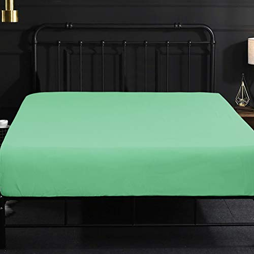 NTBAY Fitted Sheet Full Mint Brushed Microfiber Deep Pocket Sheet Wrinkle, Fade, Stain Resistant