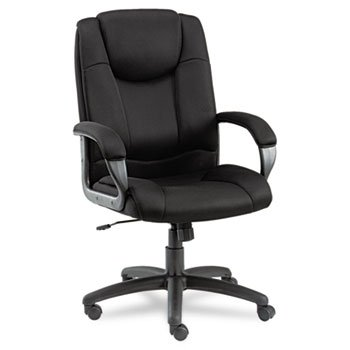 Alera Logan Series Mesh High-Back Swivel/Tilt Chair, Black by Alera