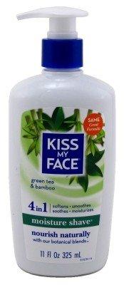 Kiss My Face Moisture Shave 11 Ounce Green Tea Bamboo (325ml) (6 Pack)